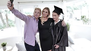 Seductive milf Kenzie Taylor is fucked permanent by graduated stepson