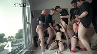 Rosario Dawson and other troupe in fishnets
