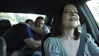 Hot milf Sovereign Syre gets intimate with one blissful team of two
