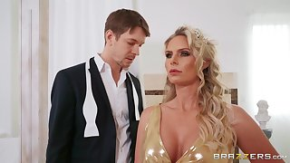 Anal fond mature wife Phoenix Marie moans during wild fucking