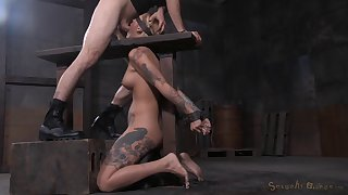 Beautiful Kleio Valentien gets her face fucked and covered in semen