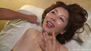 Amateur going to bed ends everywhere a facial for Japanese of age wife