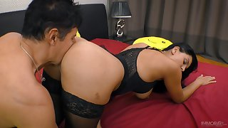 Socking Russian minx Kira Big wheel has a delicious ass and she fucks like a pro