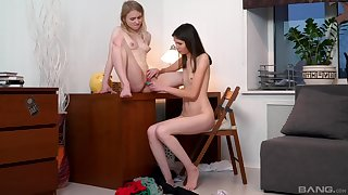 Cute friends Mellissa and Light Fairy pleasure each variant with toys