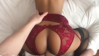Please put your dick in me! Petite babe fucked in sexy skivvies